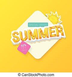 vector special offer summer label design template