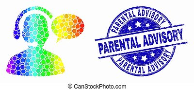 Parental advisory conflict. Communication styles illustrations and