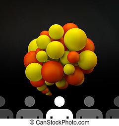 Vector speech bubble. 3D illustration.