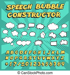Vector speech bubble constructor. Make your own speech bubble.