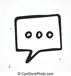 Vector speech bubble, hand drawn