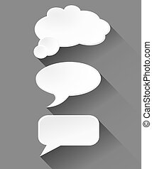 Vector speech bubble on grey background