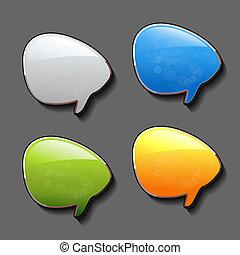 Vector speech bubbles - EPS 10