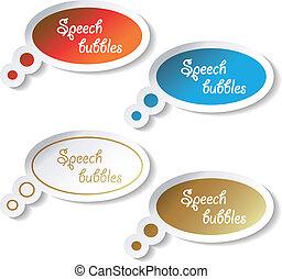 Vector speech bubbles