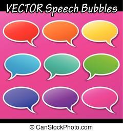 Vector speech bubbles set