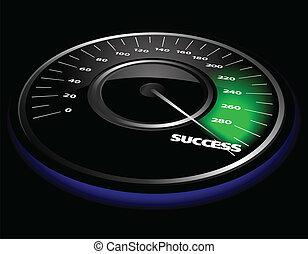 Vector speedometer - Vector illustration of a speedometer ...