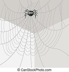 vector spider in the corner