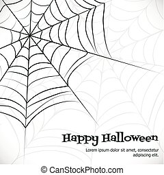 Vector spider web.