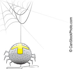 Vector spider with a web