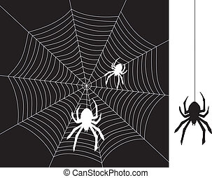 vector spiders and web