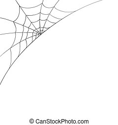 Vector Spiderweb - Vector Illustration of a Spiderweb on a ...