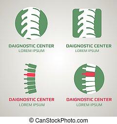 Vector spine diagnostic center logo