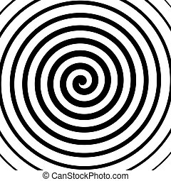 Vector spiral background in black and white. Hypnosis theme. Abstract design element