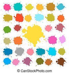 Vector Splashes - Blots - Stains Set