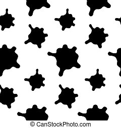 Vector splashes seamless pattern on a white background.
