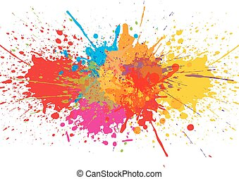 Vector splatter Color background. illustration vector design
