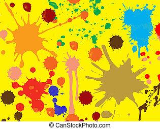 Vector splatter paint, brush abstract seamless...