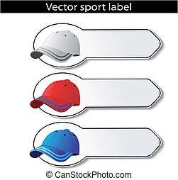 Vector sport labels