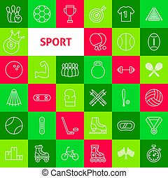 Vector Sport Line Icons