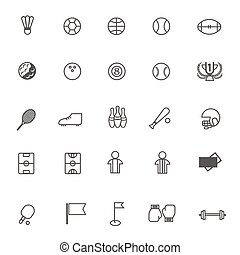 vector Sports icons set on white background