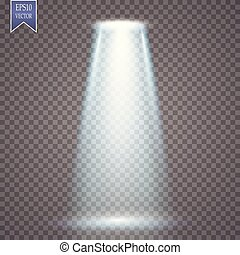Vector spotlight. Light magic effect projection