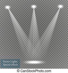 Vector spotlight on transparent background.