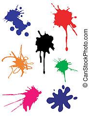 Vector spots splash - Vector spots and splash various colors...