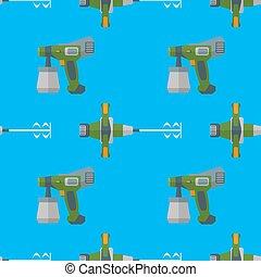 vector spray mixer seamless pattern - vector colorful flat...