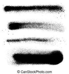 vector spray paint splatter texture - vector various black...
