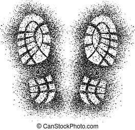 vector spray shoe imprints