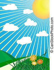 vector spring background