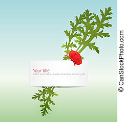 Vector spring banner with poppy