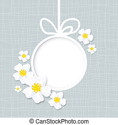 vector spring greeting card with flowers