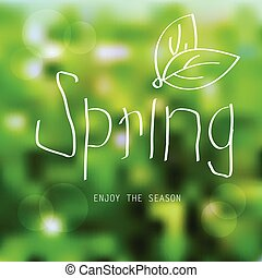 Vector spring landscape background - spring sale poster
