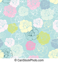 Vector spring rose tile background