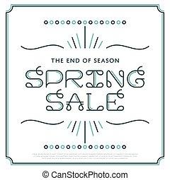 Vector Spring Sale Banner