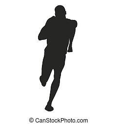 Vector sprinter silhouette