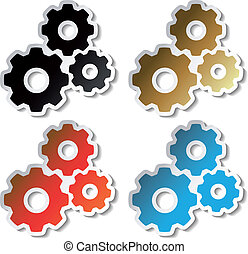Vector sprocket stickers