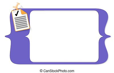 vector square brackets for entering text and document icon and check box