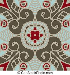 Vector square decorative design element - Colorful square...