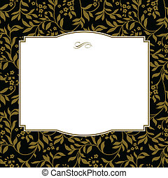 Vector Square Gold Frame