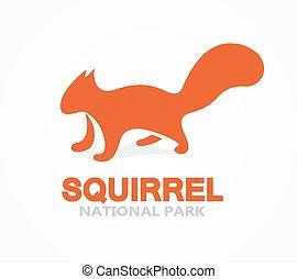 Vector squirrel logo or icon - Vector logo design element...