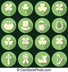 vector St. Patrick's Day icons