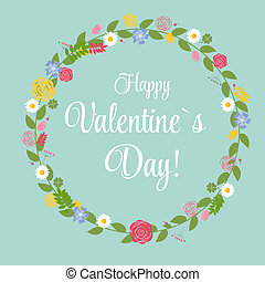 Vector St Valentine Day's Greeting Card in Retro Style...