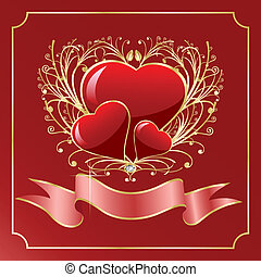 St. Valentine Greeting card - Vector St. Valentine Greeting...