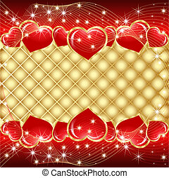St. Valentine greeting hearts, star - Vector St. Valentine...