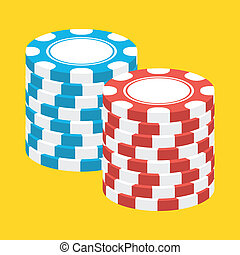 Vector Stacks of Casino Chips Icon