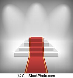 Vector Staircase with Red Carpet