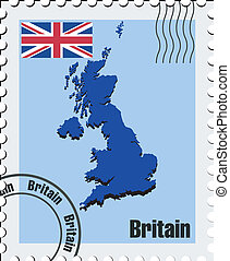 vector stamp of United Kingdom - vector stamp with the image...