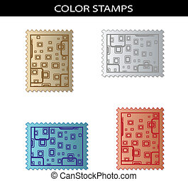 Vector stamps with squared design
